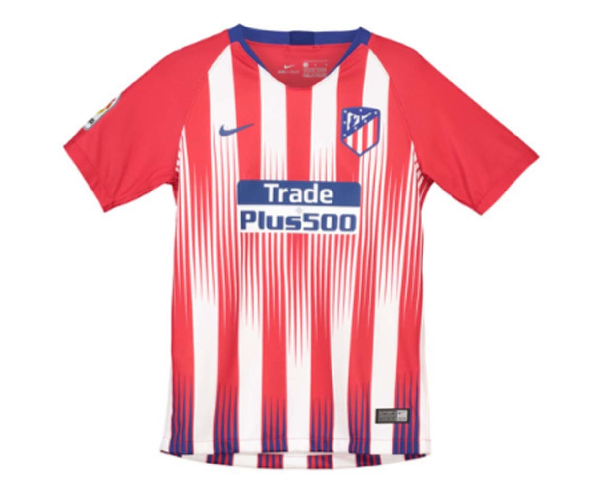 f3aed94b4 2018-2019 Atletico Madrid Home Nike Football Shirt (Griezmann 7) - Kids