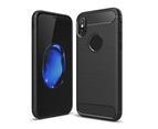 WJS Compatible with Apple iPhone XS/XS Max/XR, Ultrathin Slim Fiber Carbon Silicone Rugged Shockproof Protective Case Cover 1