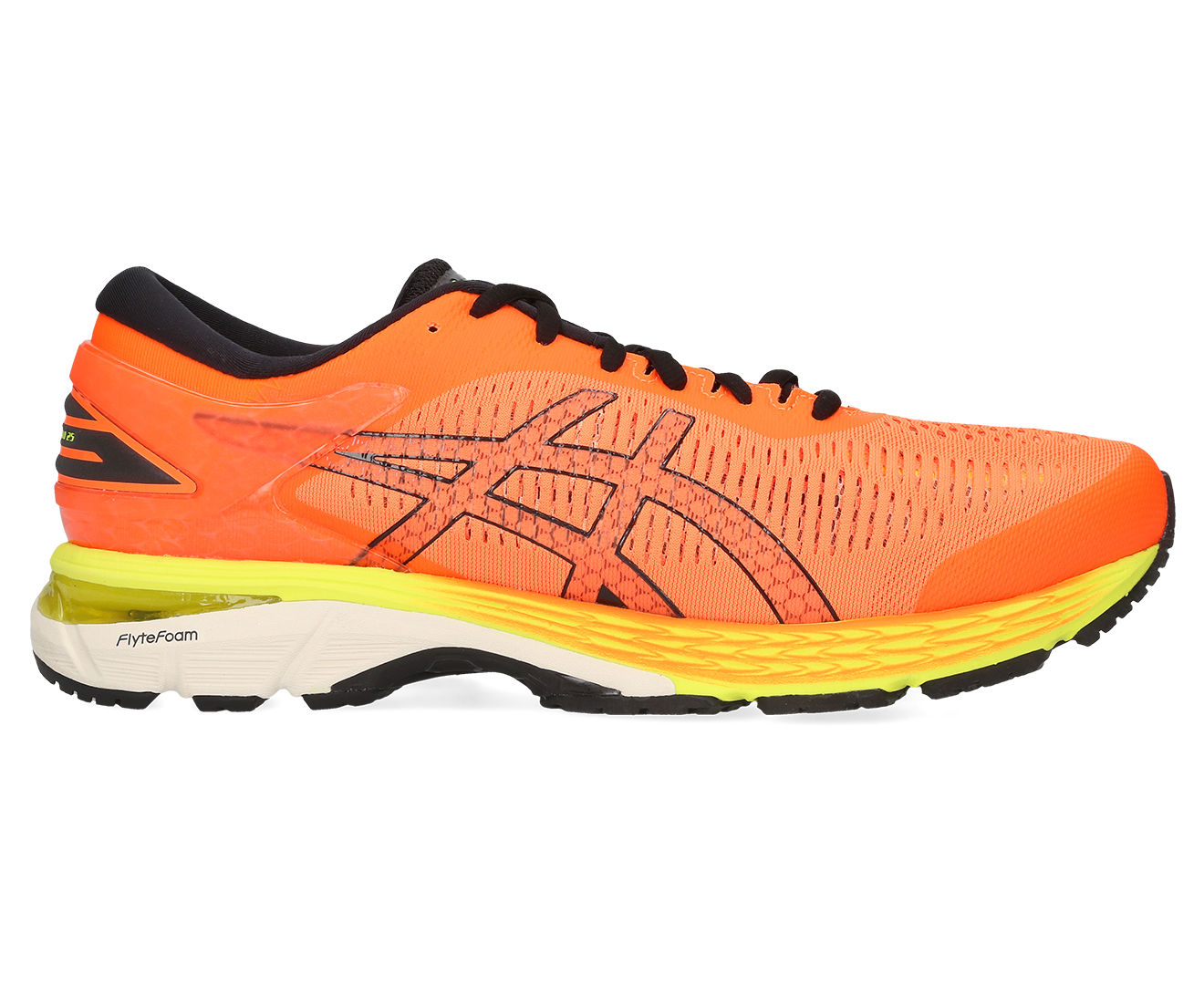 ASICS Men's Gel Kayano 25 Running Shoe (Shocking OrangeBlack, Size 12)