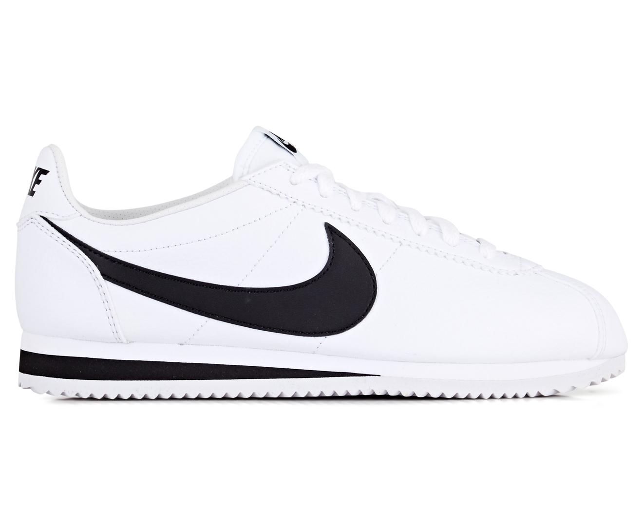 Details about Nike Men's Classic Cortez Leather Shoe WhiteBlack