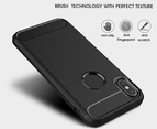 Select Mall Compatible with Apple iPhone XS/XS Max/XR, Ultrathin Slim Fiber Carbon Silicone Rugged Shockproof Protective Case Cover 3