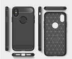 Select Mall Compatible with Apple iPhone XS/XS Max/XR, Ultrathin Slim Fiber Carbon Silicone Rugged Shockproof Protective Case Cover 4