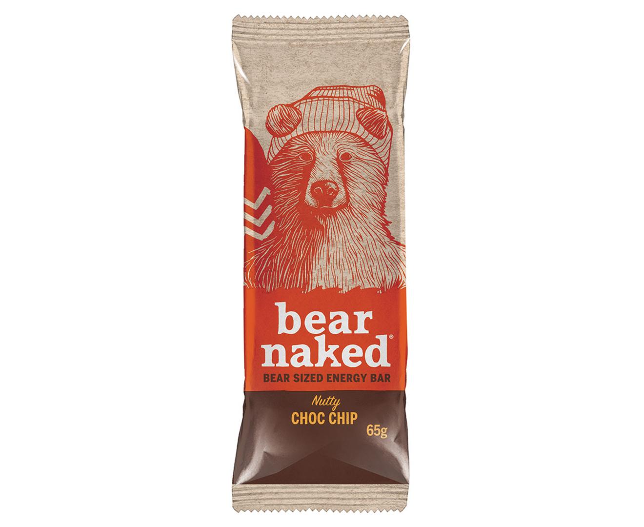8 x Bear Naked Nutty Choc Chip Energy Bar 65g   eBay