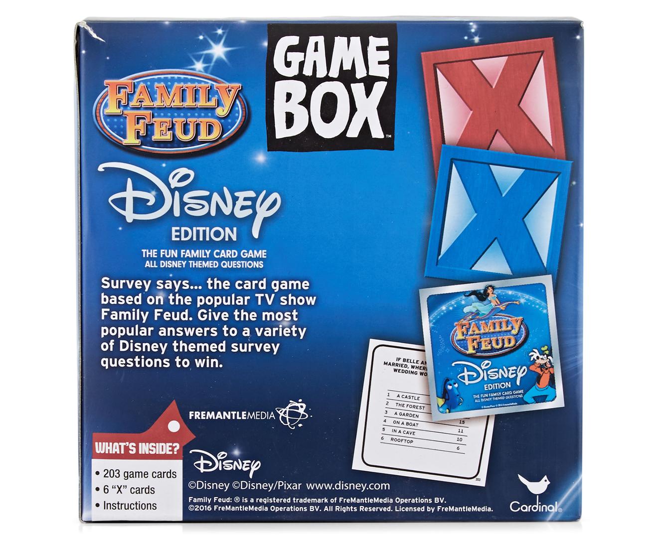 Family feud game box disney edition