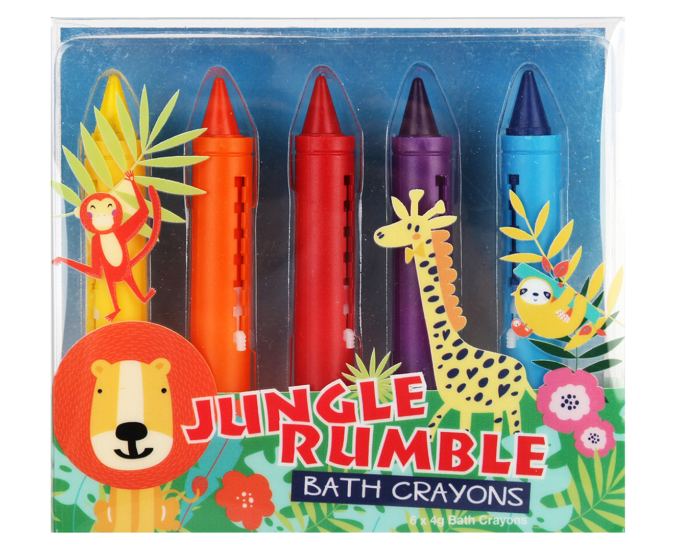 Jungle Rumble Bath Crayons | Beanstalk Mums