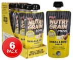 6 x Nutri-Grain To Go Protein Squeezer Banana & Honey Smash 140g 1