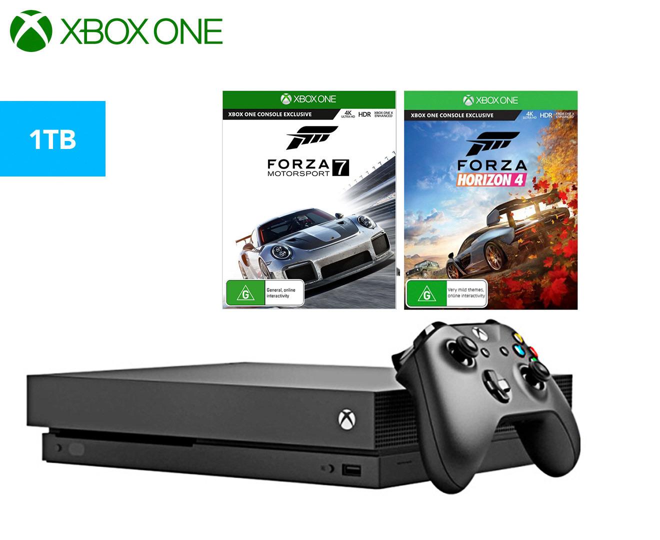 Microsoft Xbox One X 1TB Console w/ Forza Horizon 4 +