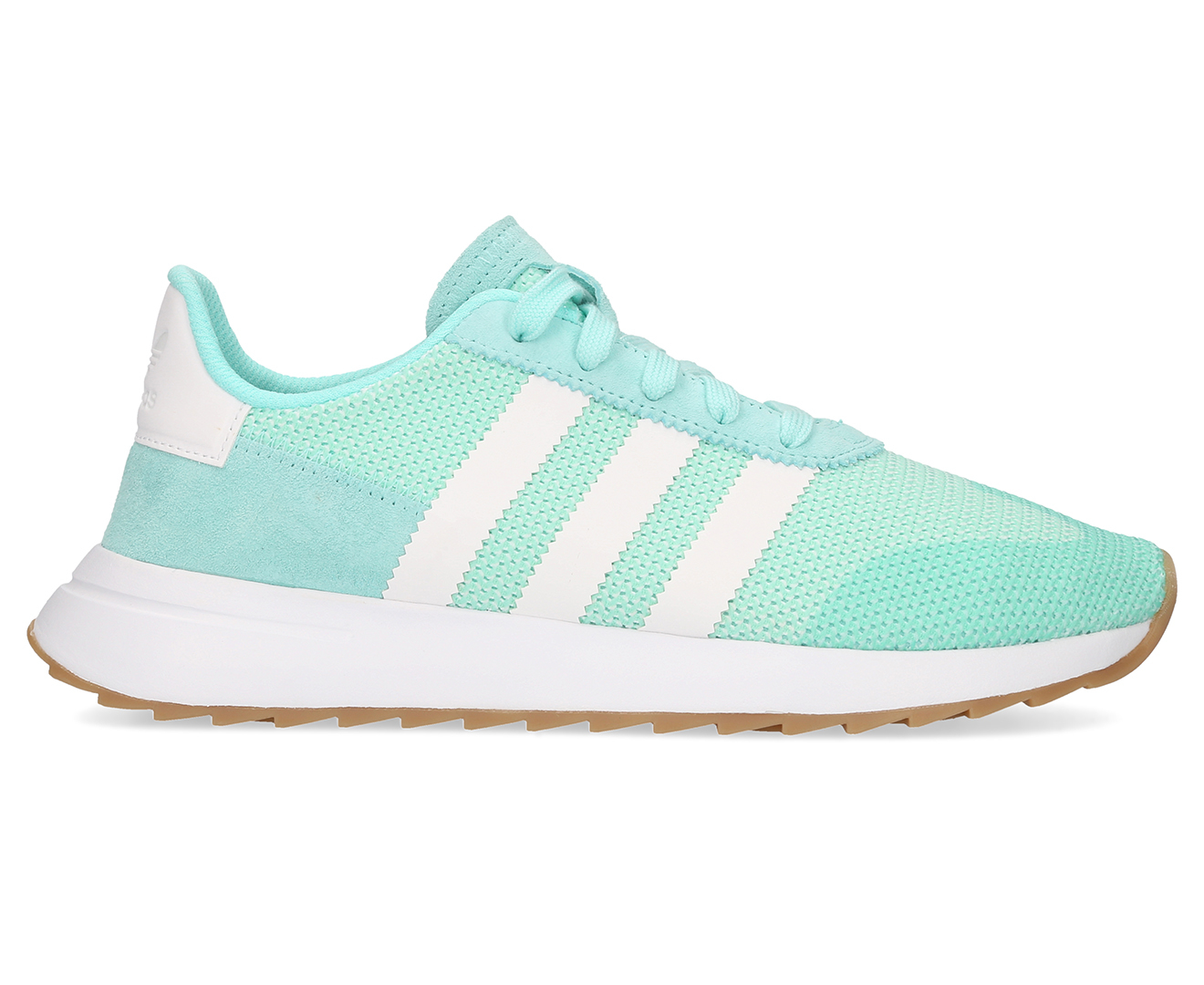1bded6537d63 Adidas Originals Women s FLB Runner - Energy Aqua   Cloud White   Gum