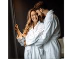 Comfy Adult Unisex Cotton Bath Robe 650 GSM Medium - White 1