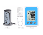 Select Mall Full-Automatic Electronic Sphygmomanometer, English Voice Broadcast Home Medical Upper Arm Blood Pressure Meter 3
