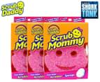 3 x Scrub Mommy Dual-Sided Scrubber Sponge - Pink video