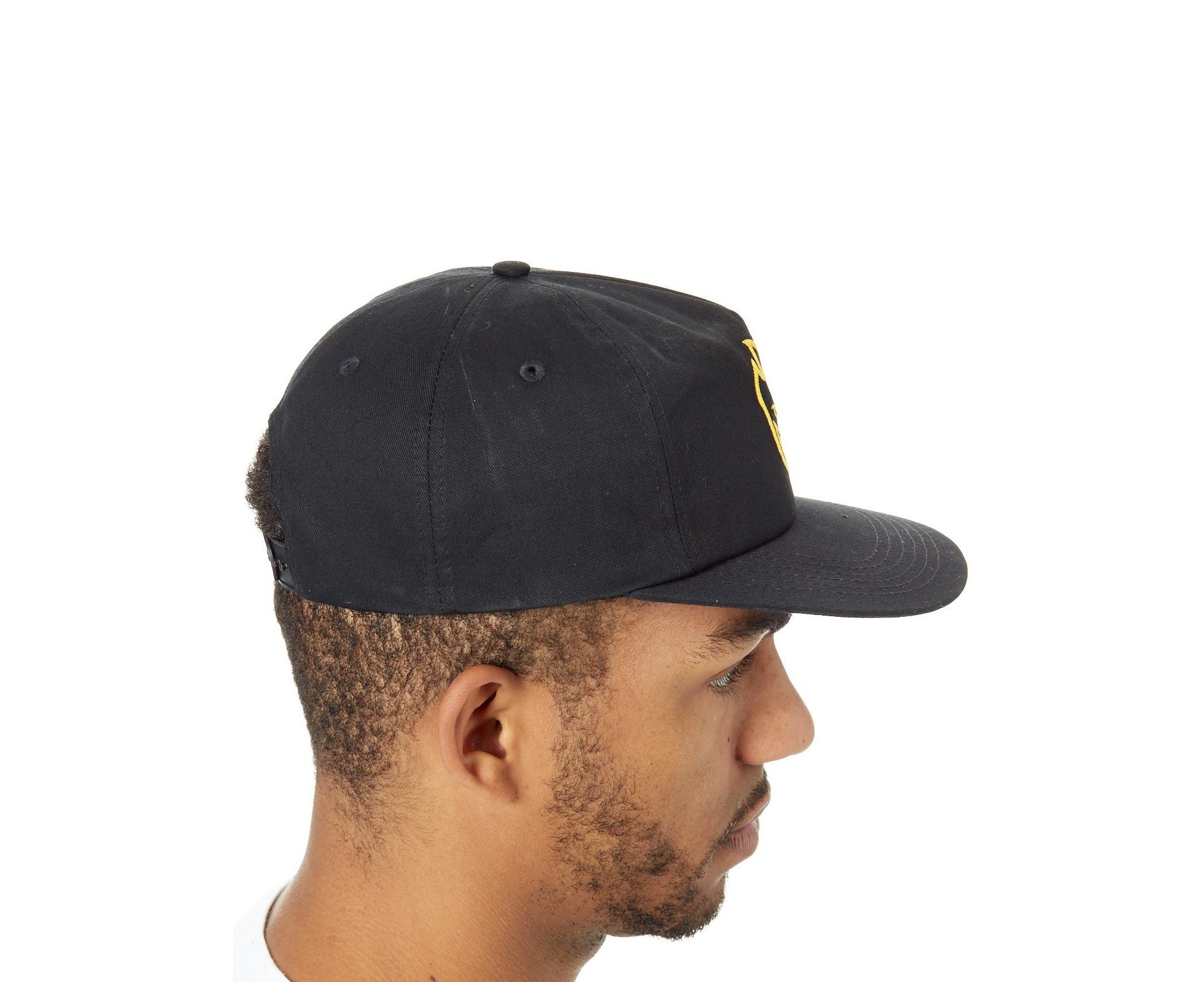 baaf0f42bad Spitfire Black-Yellow Bighead Snapback Cap