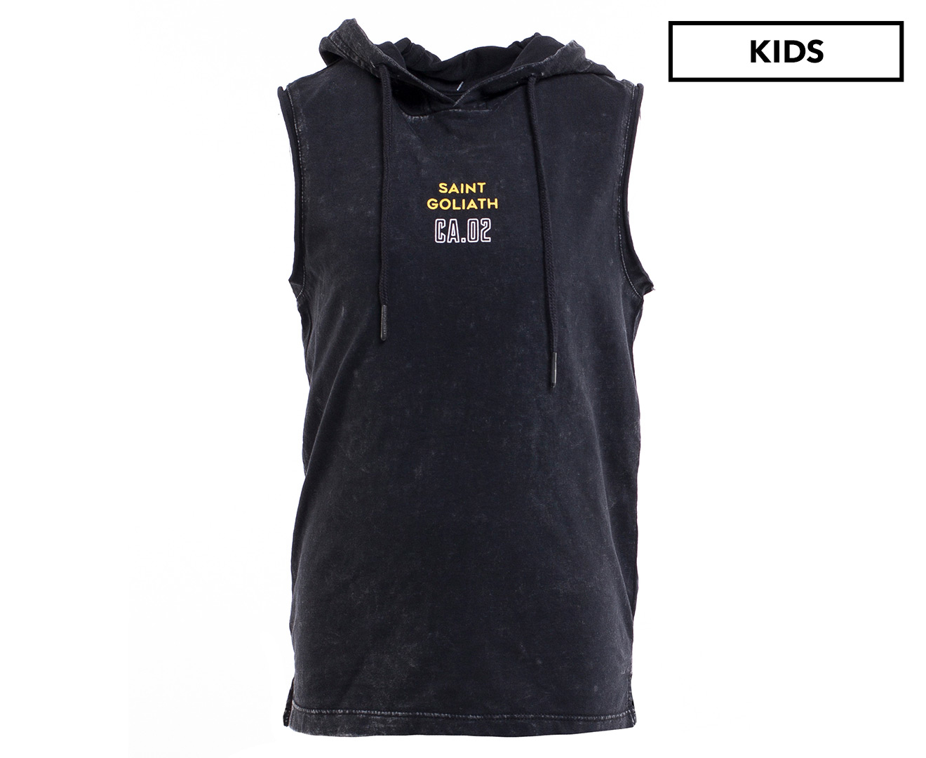 1d7d9be52 St Goliath Boys' Dipping Hooded Muscle Tank - Black | Catch.co.nz