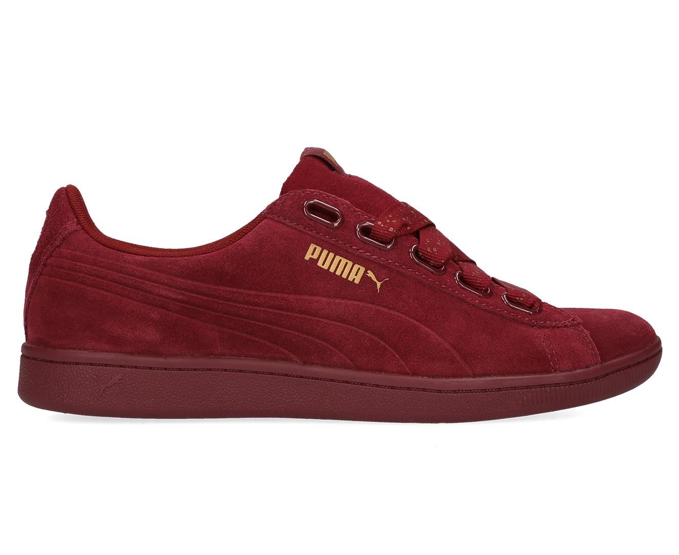 2f4ce1feeba44b Puma Women s Vikky Ribbon Dots Sneakers - Pomegranate