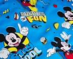 Disney Mickey Mouse Reversible Single Bed Quilt Cover Set - Multi 5