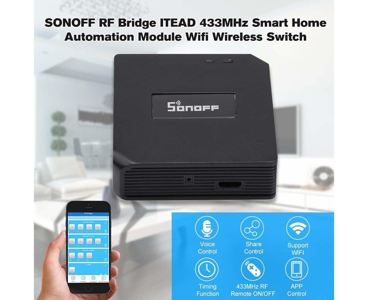 SONOFF RF Bridge ITEAD 433MHz Wifi Wireless Switch Remote Controllers