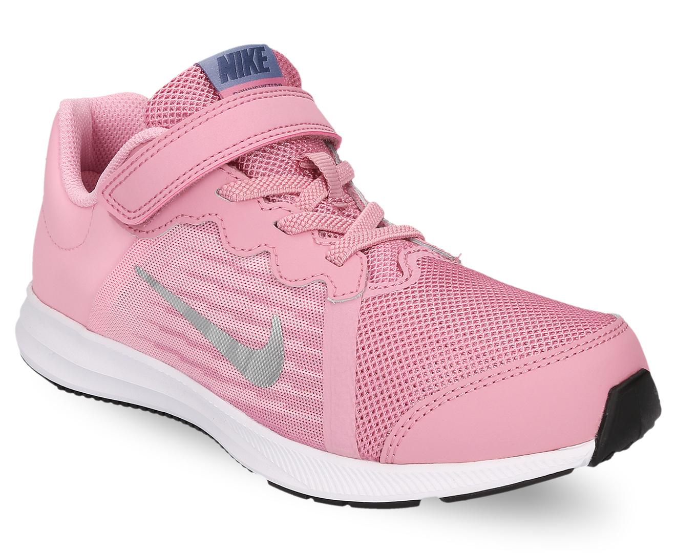 d7f399fd6a8 Nike Girls  Pre-School Downshifter 8 Shoe - Elemental Pink Metallic Silver  Pink