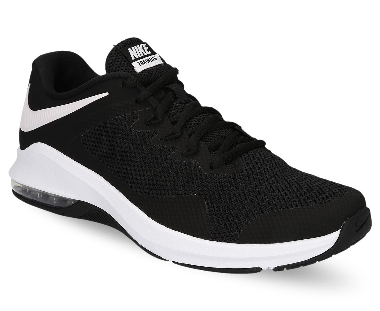 a20cd949751 Nike Men s Air Max Alpha Trainer Shoe - Black White