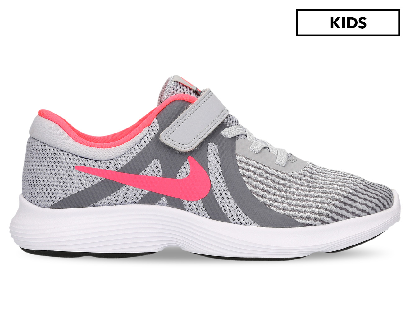 ed0b918a9df8af Nike Girls  Pre-School Revolution 4 Shoe - Grey Pink Grey White