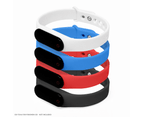 GO-TCHA Wristband Straps for Pokemon Go (Wristband Only) 4 Pack (Black/Blue/Red/White) 1
