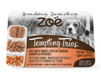 Zoe Tempting Trios Pate Chicken Carrots & Potatoes Dog Food 6x100g 1