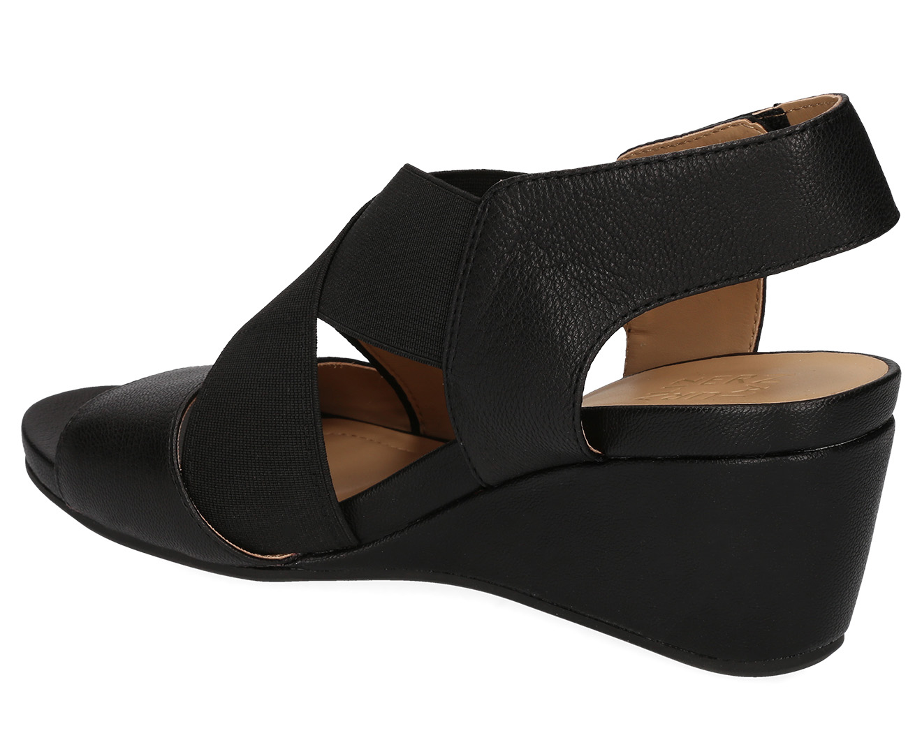 Naturalizer Women's Cleo Wedge Sandal Black