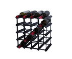 Borders 20 Bottle DIY KIT- 4x4 Pocket- Black - The Wine Rack Guru 1