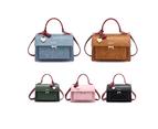 Select Mall Women's one-shoulder bag, multi-layer covered lock organ handbag - BLACK 2