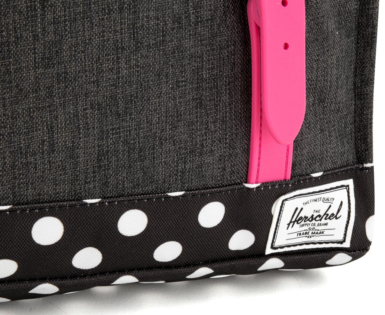 c7678dc2198d Herschel Supply Co. Kids  5.5L Survey Backpack - Black Pink Mini Polka Dot