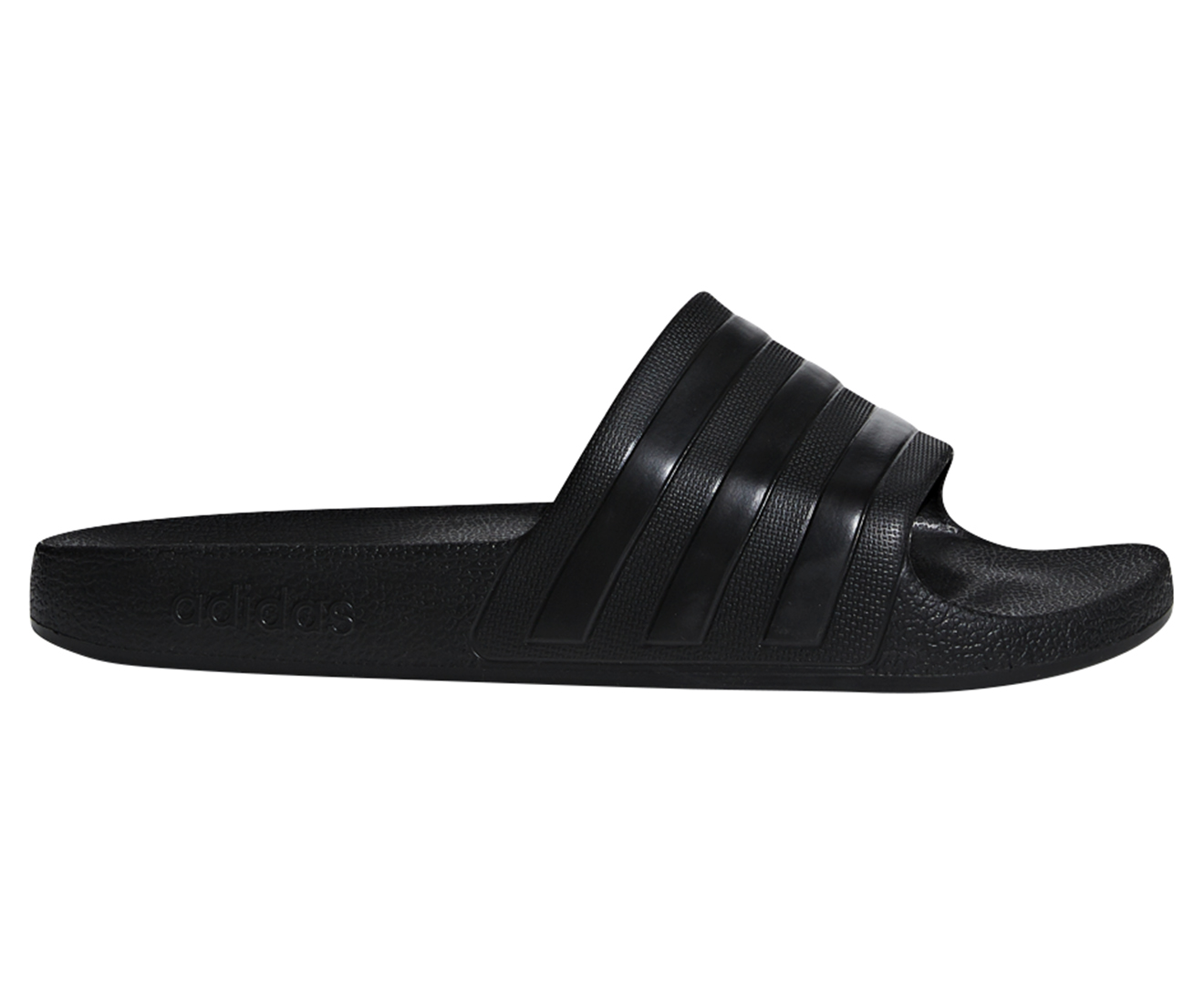 outlet store b24b2 4599c Adidas Adilette Aqua Slides - Core Black   Catch.com.au