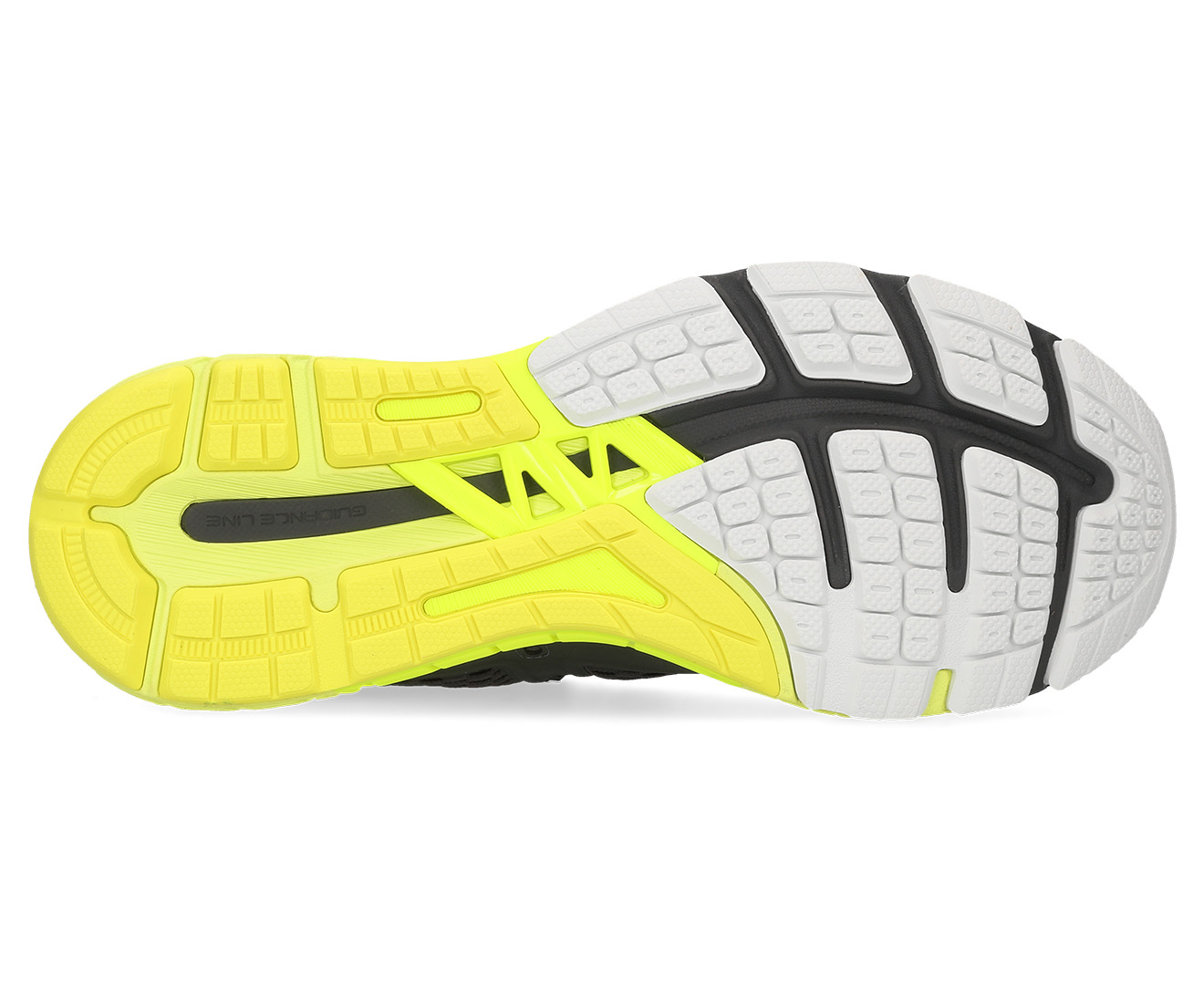 ASICS Men's GT 4000 Wide Fit (2E) Shoe Dark GreySafety Yellow