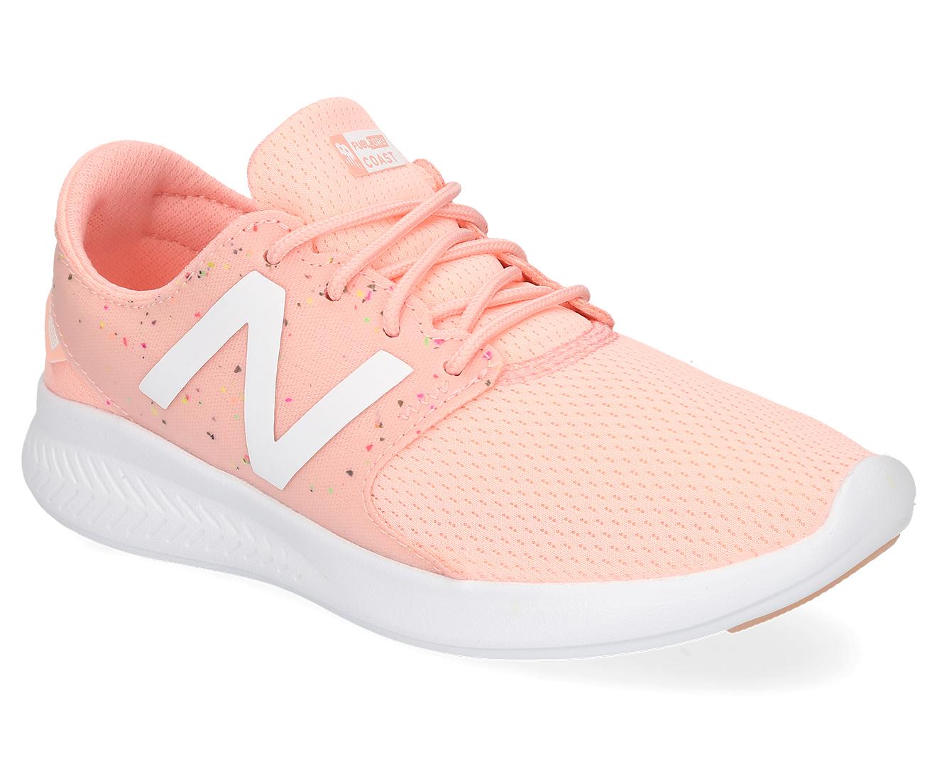 cea3e5caea6 New Balance Girls  Pre-School Fuelcore Coast V3 Shoe - Himalayan  Pink Confetti