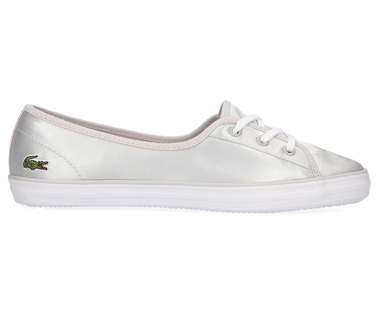 check-out 0eaa3 ae594 Details about Lacoste Women's Ziane Chunky 118 2 Shoe - Light Grey/White