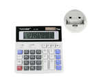 WJS Calculator Solar and AA Battery Dual Power Electronic Calculator 2