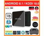 OzTeck H96 Max X2 Android Kodi TV Box 4GB RAM+64GB ROM+i8 Wireless Keyboard 1