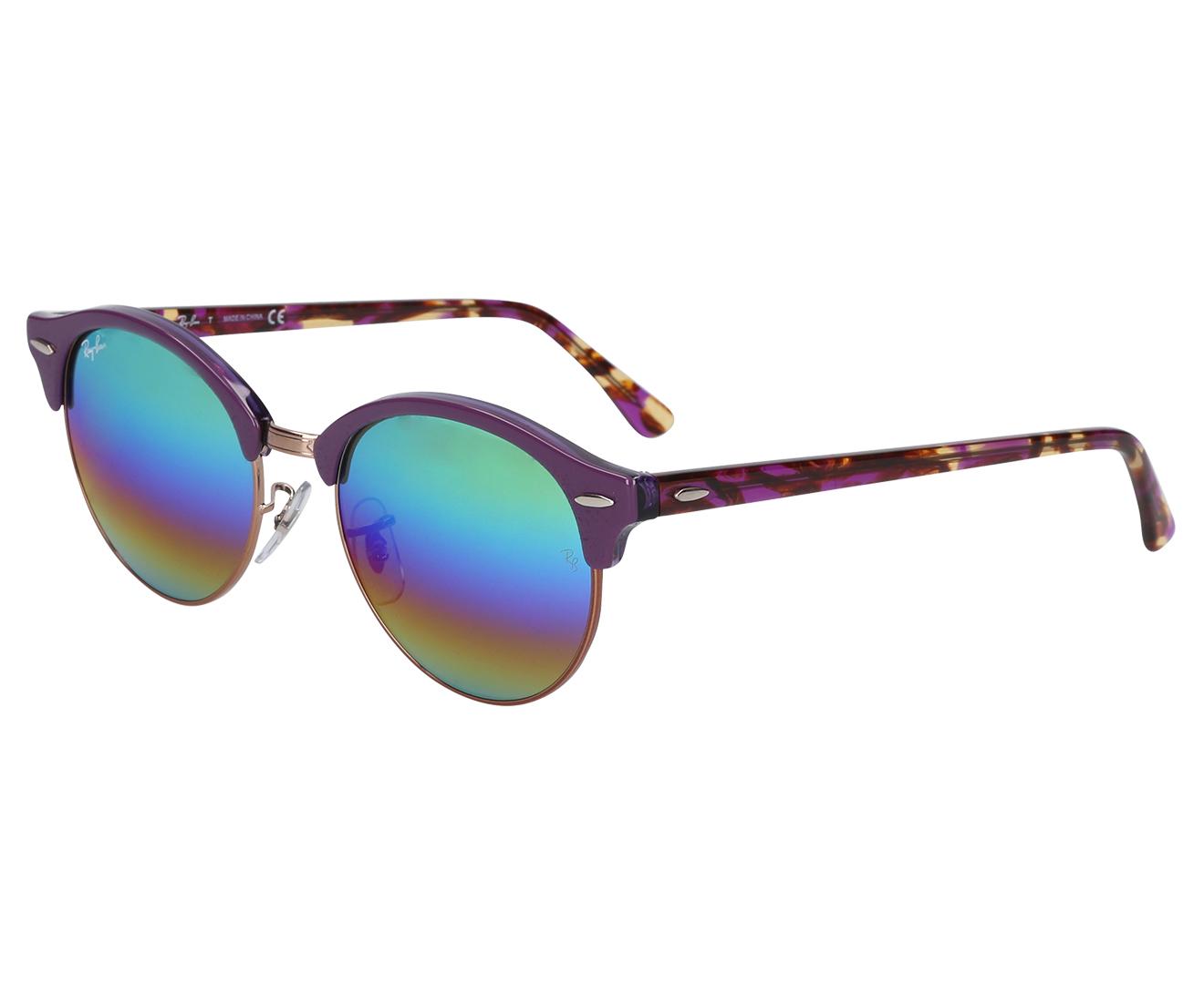 aba4a1216 Ray-Ban Men's Clubround RB4246 Sunglasses - Violet/Light Grey | Catch.com.au