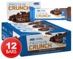 12 x Optimum Nutrition Protein Crunch Bars Milk Chocolate 57g 1