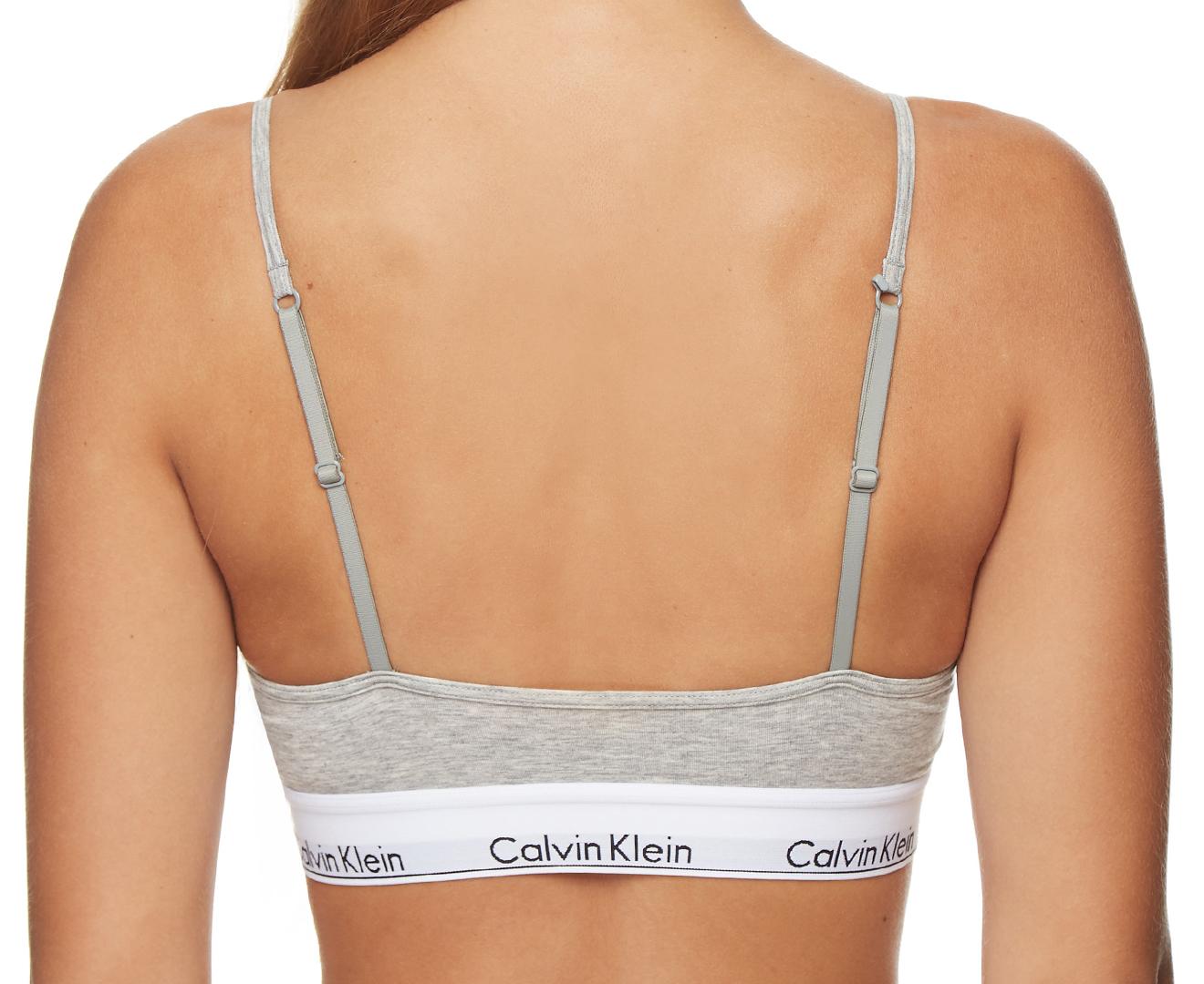0bc8fc5659 Calvin Klein Women s Modern Cotton Retro Bralette - Grey Heather