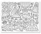 Melissa & Doug Colour-Your-Own Sticker Pad Dress-Up 2