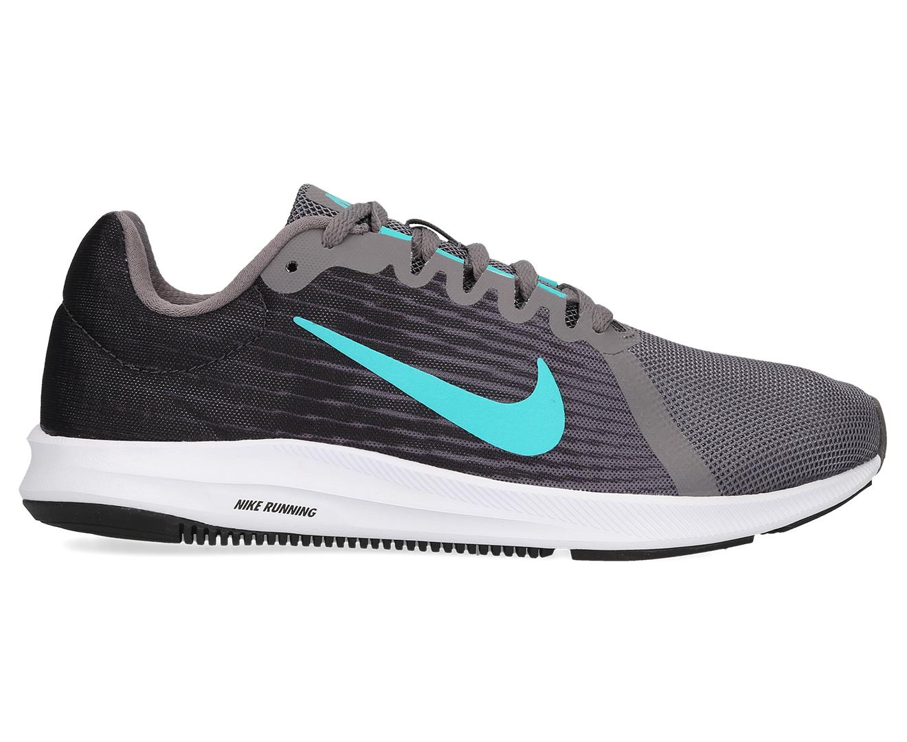 6887187326bd7 Details about Nike Women's Downshifter 8 Shoe - Gunsmoke/Hyper Jade-Oil Grey