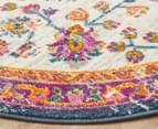 Rug Culture 150x150cm Babylon Blossom Vintage Look Round Rug - Ivory/Rust 2