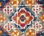 Rug Culture 230x160cm Babylon Diamond Vintage Look Rug - Multi/Red 4