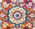 Rug Culture Babylon 400x80cm Floral Vintage Look Runner Rug - Multi 4