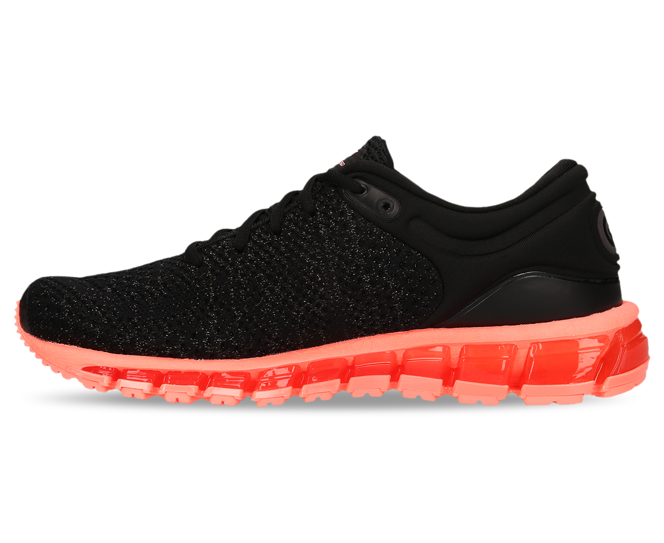 detailed look c1eb2 53de7 ASICS Women's GEL-Quantum 360 Knit 2 Shoe - Black/Sun Coral