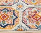 Rug Culture 300x80cm Babylon Garden Circle Vintage Look Runner Rug - Multi/Rust 3