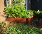 Greenlife Corten 900x600x295mm Steel Garden Bed 2
