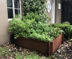 Greenlife Corten 900x900x295mm Steel Garden Bed 3