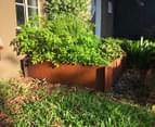 Greenlife Corten 1200x1200x295mm Steel Garden Bed 2