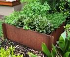 Greenlife Corten 600x600x295mm Steel Garden Bed 3