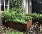 Greenlife Corten 1200x1200x295mm Steel Garden Bed 3